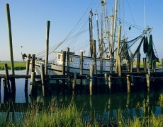 Shrimp Boat on St. Helena Sound South Carolina